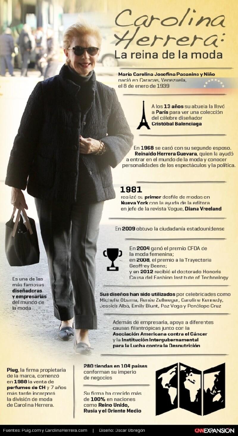 La diseñadora cumple un año más de vida con su nombre como una marca reconocida internacionalmente; personalidades como Michelle Obama y Emily Blunt han lucido sus diseños.