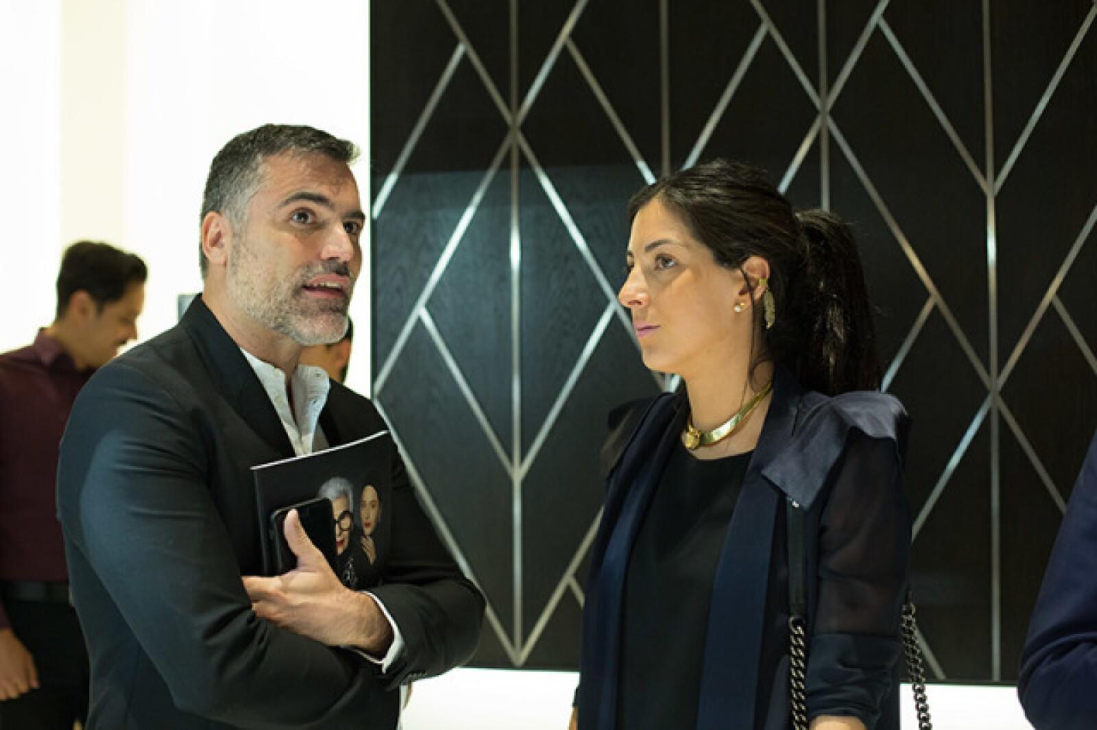 Nino Bauti y Lorena Murat