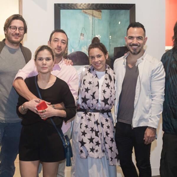 Eduardo Saenger,Fernando Marroquín y Mariana Estrada,Deya Tarno,Hugo López,Eduardo López