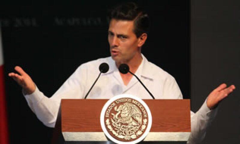 En 2013 el crédito representó 28% del PIB, de acuerdo con el presidente Peña Nieto. (Foto: Notimex)