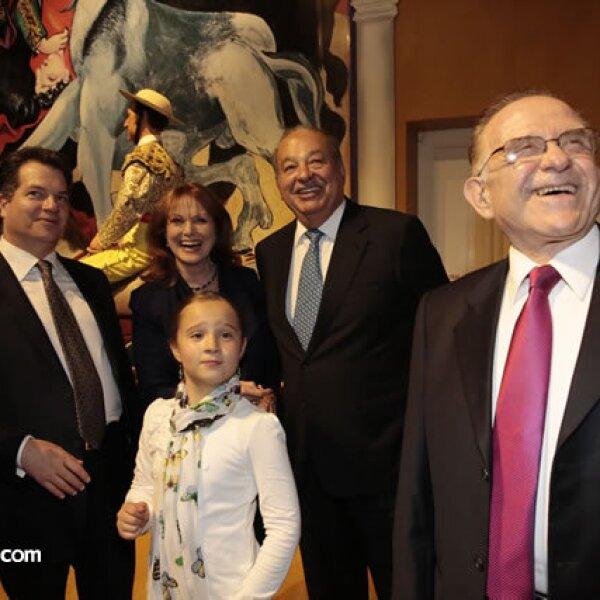 Miguel Alemán Magnani,Vanessa Alemán,Christiane Magnani,Carlos Slim,Mario Rabner