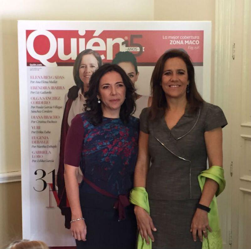 """Como una de las homenajeadas en """"31 Mujeres que amamos"""" de Quién, la esposa del ex presidente Felipe Calderón hizo un llamado a que las mujeres no oculten sus carreras personales."""