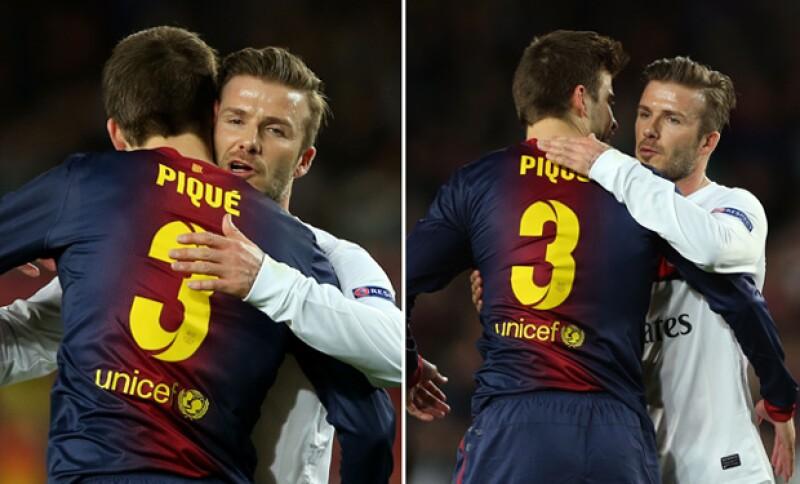 Por otra parte, en el 2013 Beckham conoció a Piqué durante el partido para pasar a la cuartos de final de la Champions League.