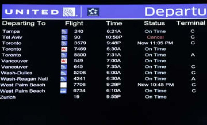 Operadoras como United Airlines cancelaron sus vuelos desde el martes por motivos de seguridad.  (Foto: Reuters)