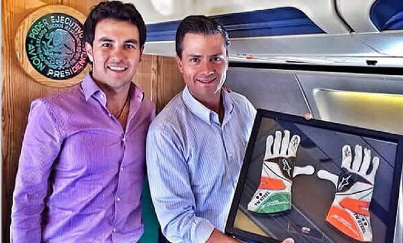 El llamado 'Checo' y Peña Nieto se agradecieron mutuamente la compañía a través de redes sociales.