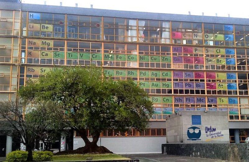 Tabla Periódica de los Elementos en la Facultad de Química de la UNAM