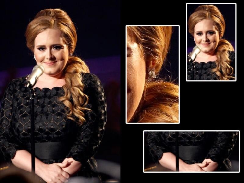 Aunque usó dos vestidos, uno para la alfombra negra y otro para su show, Adele acertó en ambas ocasiones.