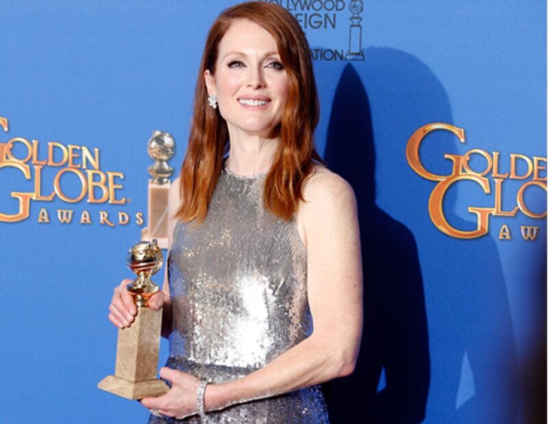 La actriz recibió el premio a Mejor Actriz en Película de Drama