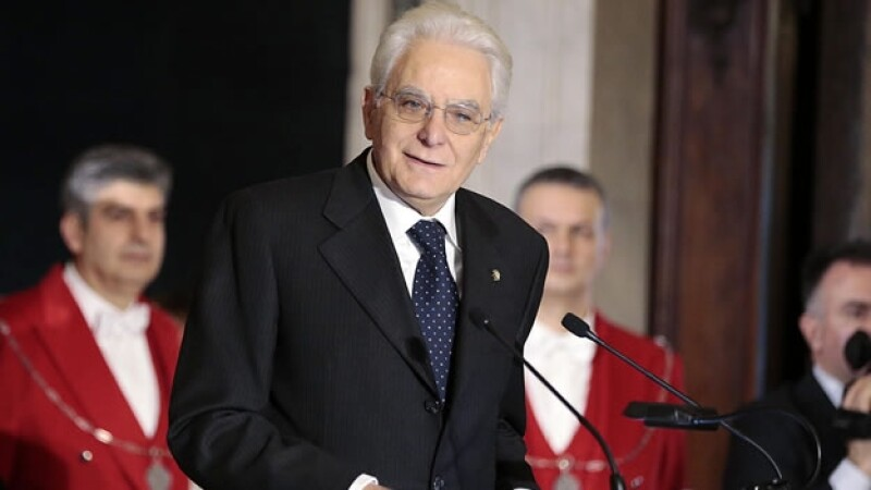 El presidente de Italia Sergio Mattarella