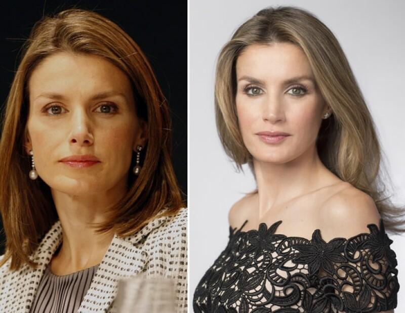 Un comparativo de la princesa, la primera imagen es del 2008 y la segunda es como luce actualmente.