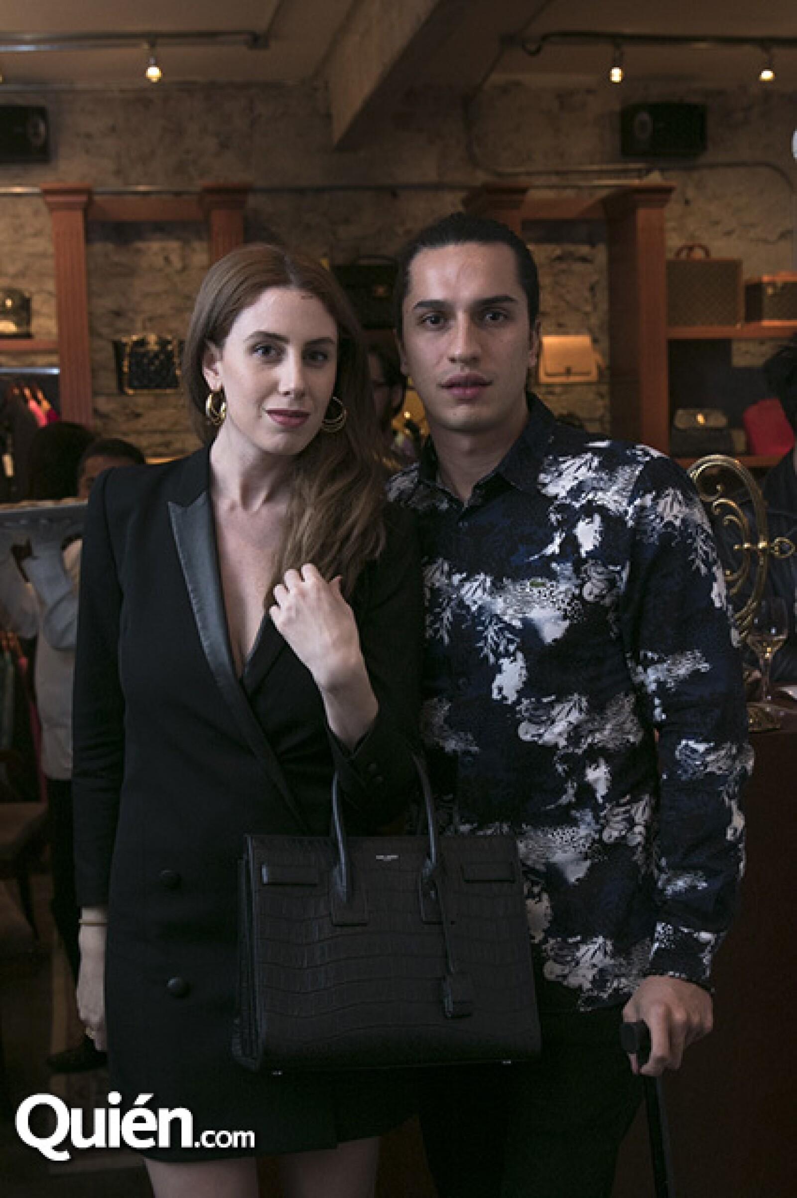 Samantha Calderón y Joe Guiness