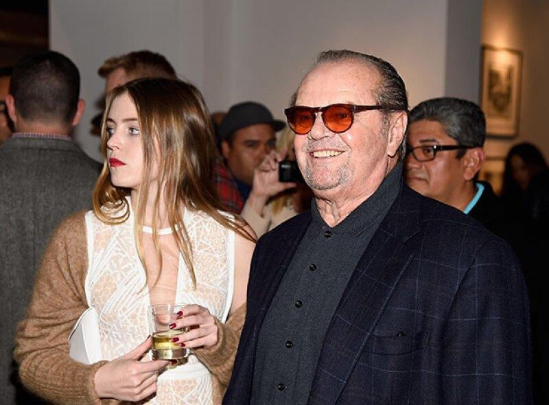 Aquí, con su hija Lorraine, el actor parece disipar todos los rumores.