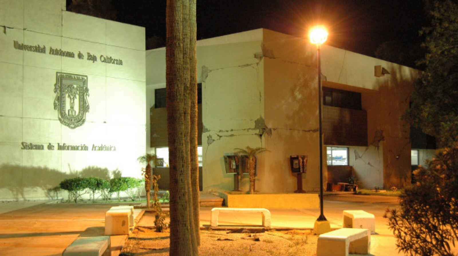 La Universidad Autónoma de Baja California fue otro de los edificios afectados