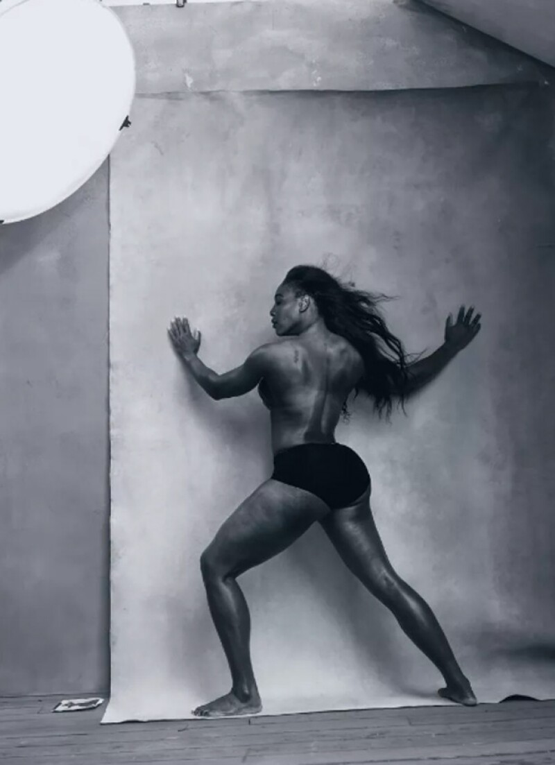 Serena Williams, al igual que Amy, fue una de las protagonistas que se mostró casi desnuda.