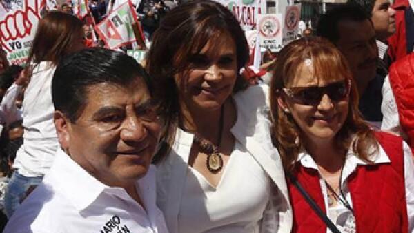 (Foto: El exgobernador de Puebla, Mario Marín, recorre las precampañas a meses de las elecciones. Foto: PRI/Cortesía) )