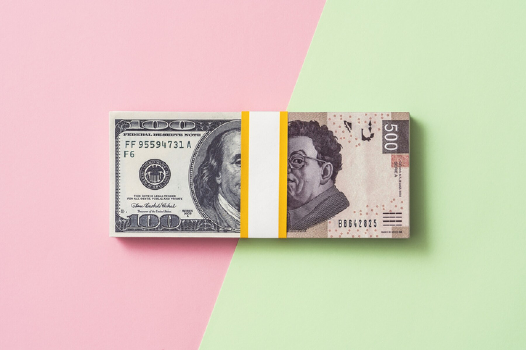 Dollar to Mexican peso money exchange