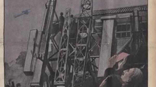 Avances en plataformas a�reas. Cr�dito: Archivo de la Bibliot�que Nationale de France