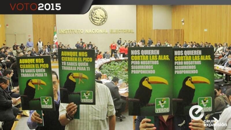 multas al Partido Verde