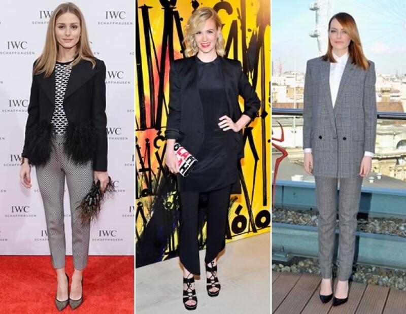 La tendencia de las pasarelas se apodera de los red carpets. Los trajes pueden hacerte lucir sexy, sofisticada, elegante y glamorosa,