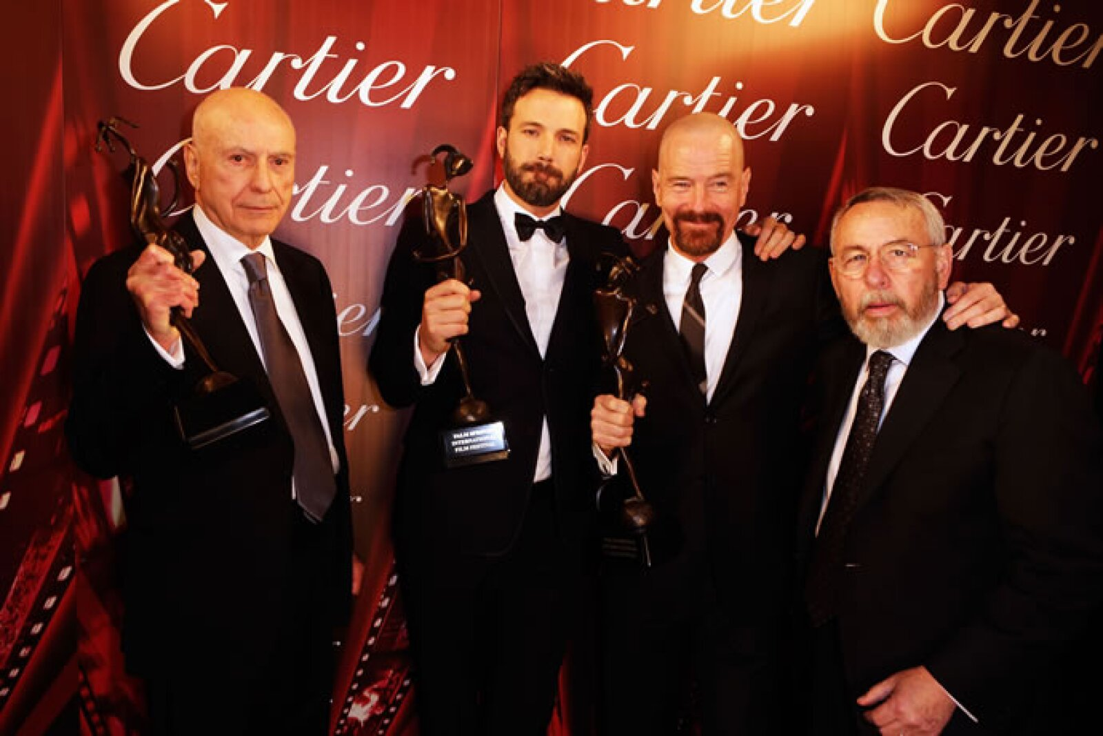 Alan Arkin, Ben Affleck, Bryan Cranston y Tony Mendez.