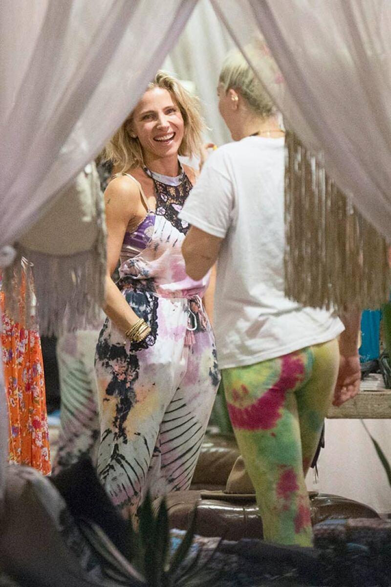 Elsa Pataky, esposa de Chris Hemsworth, y Miley fueron vistas ese mismo día de shopping.