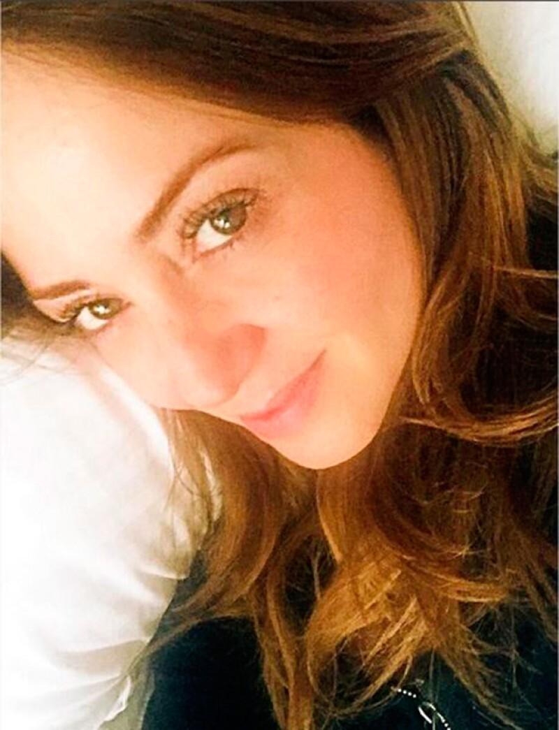 Con esta imagen Andrea anunció que ya estaba recuperándose de la enfermedad.