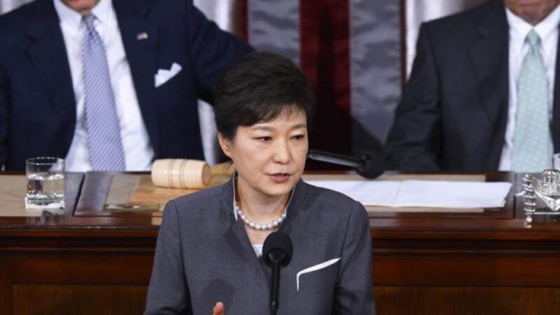 Park Geun-hye visita a Estados Unidos mayo 2013