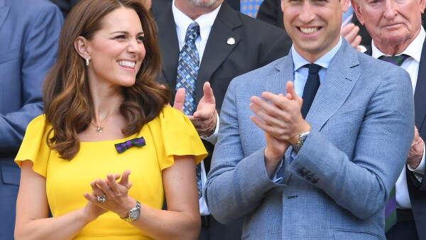 Kate Middleton y William en Wembley 2018