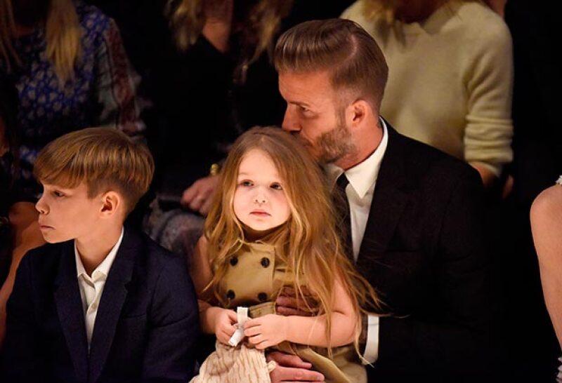 David se mostró cariñoso con su hija en todo momento.