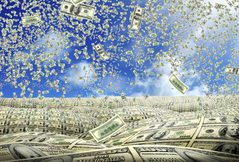 Financial concept of money