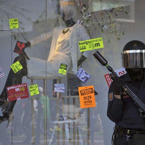 Entre 77 y 85% de los trabajadores de España apoyan la manifestación, según los sindicatos.
