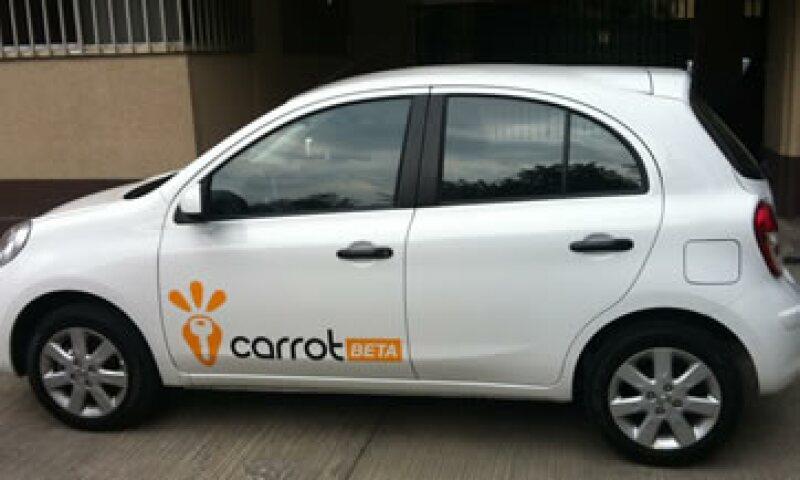 Los autos se rentan con gasolina y seguro incluído. (Foto: Cortesía Carrot Mx)