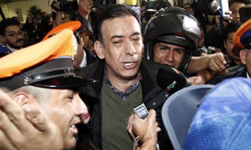 El exgobernador de Coahuila llegó al Aeropuerto de la Ciudad de México tras haber sido detenido en España. (Foto: Cuartoscuro )