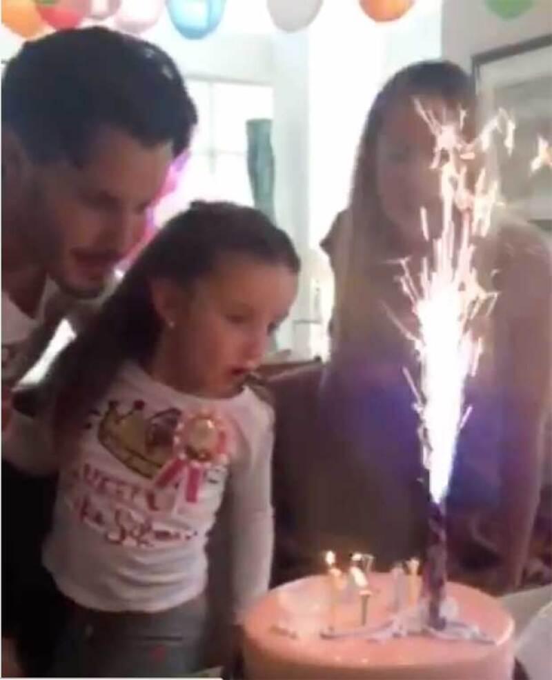 Carla posteó un video donde se ve el festejo que tuvieron hace un año.