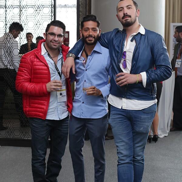 José Santana,Rudy Gordillo y Fernando Fierro
