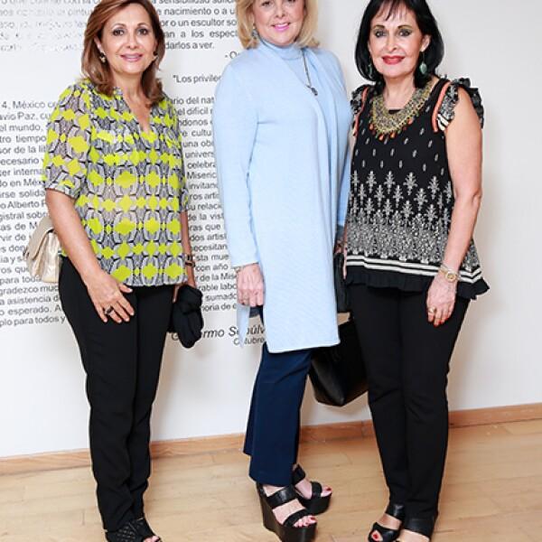 Mary Tere Avella de González,Katyna del Real y Margarita González de Berchelman