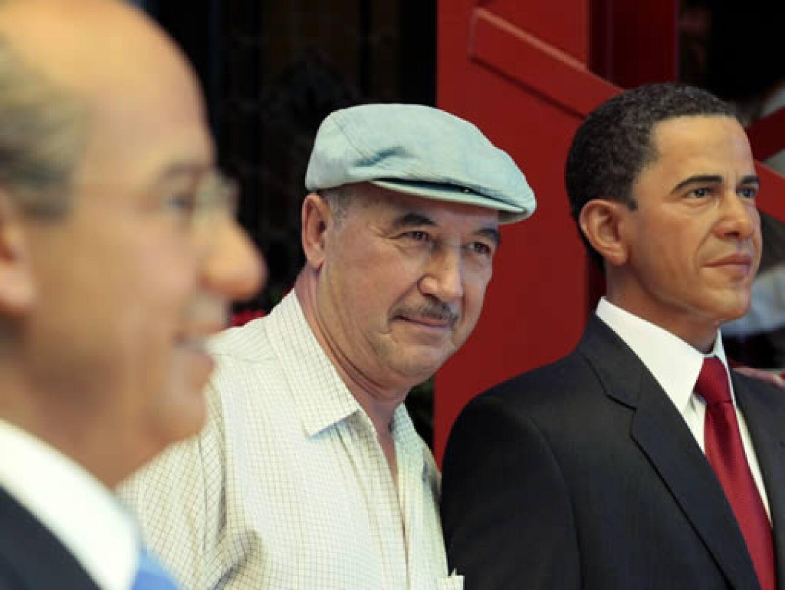 Obama, que forma ya parte del museo de cera del DF, partirá el viernes por la mañana rumbo a Puerto España, Trinidad y Tobago, para asistir a la 5 Cumbre de las Américas.
