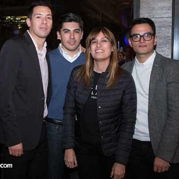 Miguel Sánchez Rubio,Fernando Vela,Grace Navarro y Rolando Primero