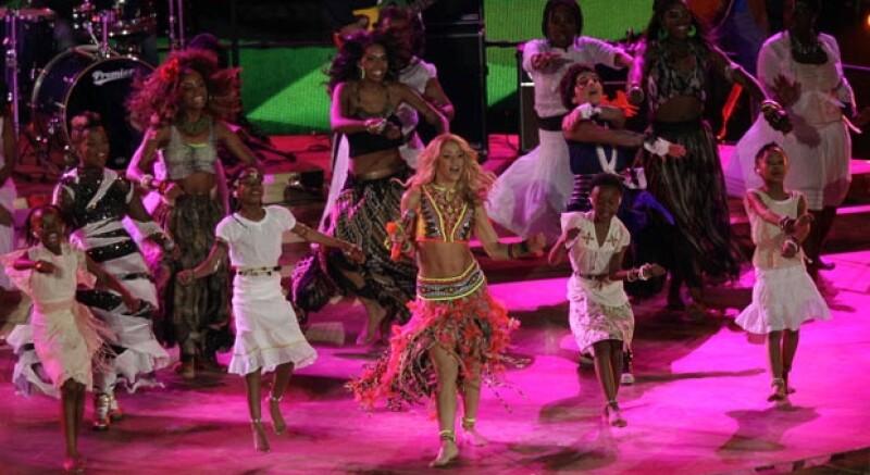 La colombiana fue la encargada de cantar el tema oficial del Mundial de Sudáfrica 2010.