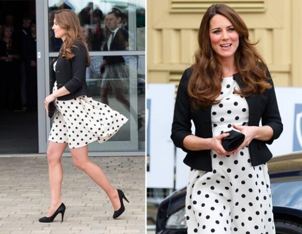 Parte del éxito de este vestido es que no era de maternidad.