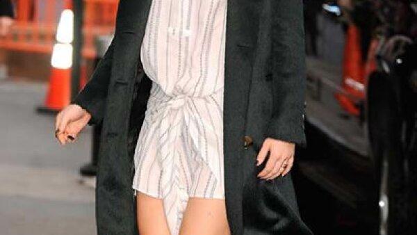 La ganadora del Oscar llega a ´Good Morning America´en un vestido de Ulla Johnson.