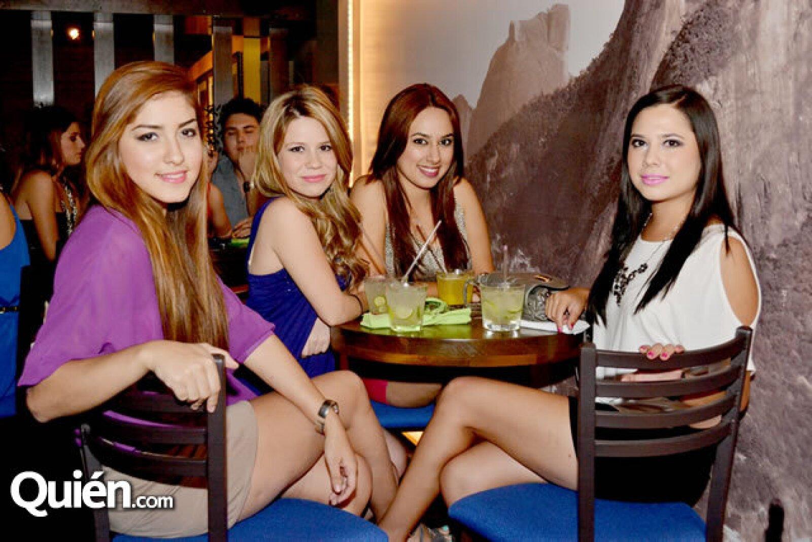 Scarlett Garza, Alejandra Vera, Alma Salinas y Sandrina Ramírez