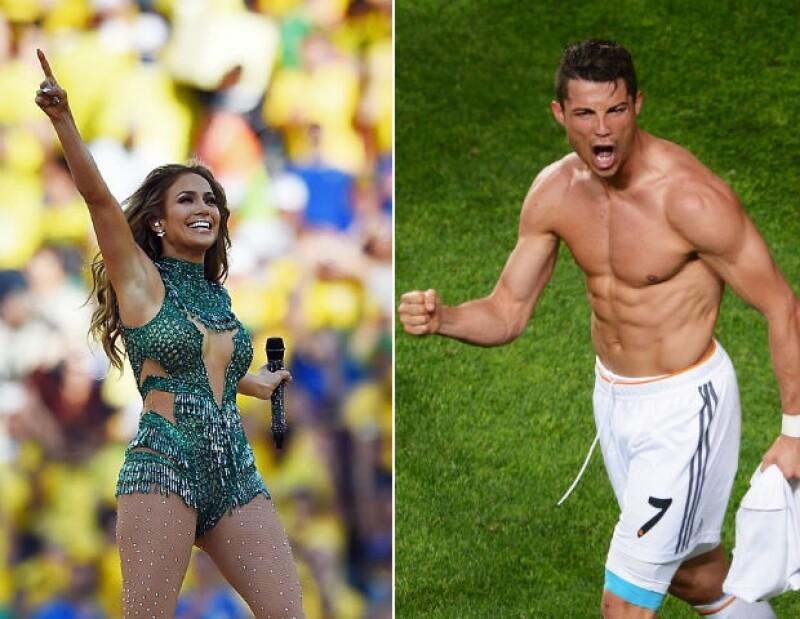 Jennifer Lopez y Ronaldo, dos figuras del Mundial.