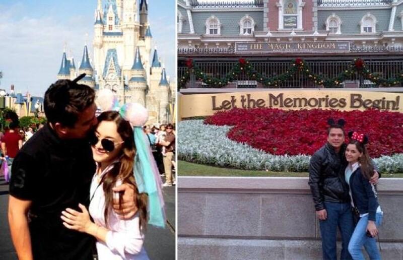 Disney se ha convertido en uno de los románticos escenarios de esta historia de amor.