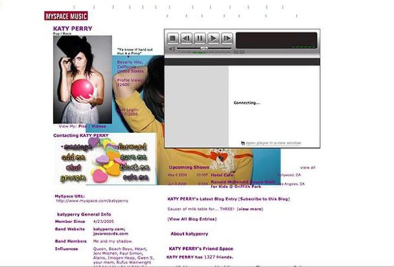 Katy Perry y sus pininos como cantante en MySpace.