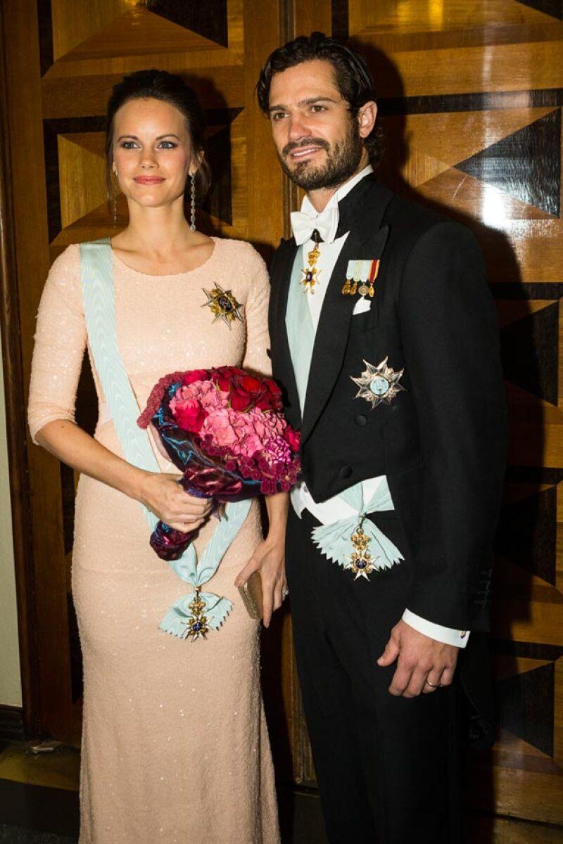 La princesa con su esposo Carlos Felipe de Suecia.