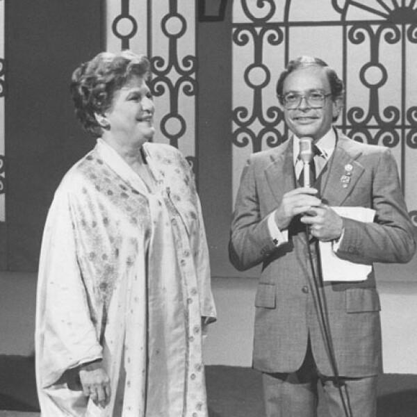 En 1995 con Raúl Velasco en Siempre en Domingo.
