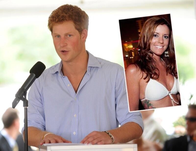 Se rumoró que la mesera Jessica Donaldson pasó una noche con el Príncipe.