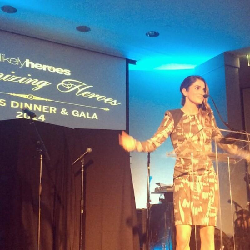 Nikki se mostró agradecida con Unlikely Heroes, fundación que la incluyó por segunda ocasión en dicha causa.