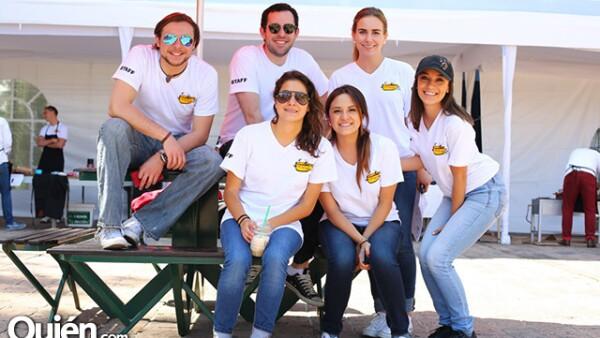 Santiago Diz,Iker Anchustegui,Daniela Sánchez,María José García,Renata Abusaid y Stephanie Morlet